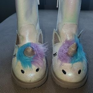 Cat & Jack Unicorn Boots (white)